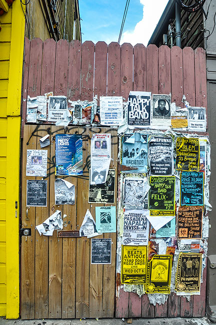Band posters at Marigny, New Orleans