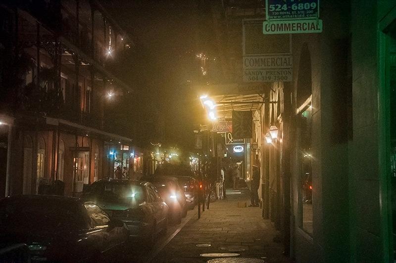 French Quarter at night, N.O., Louisiana