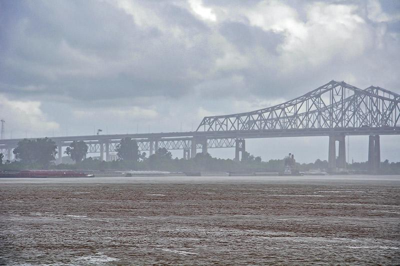 New Orleans Bridge on Mississippi River
