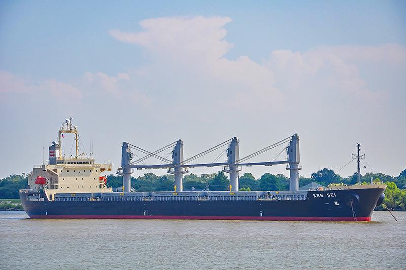 Ken Sei ship on Mississippi River, New Orleans