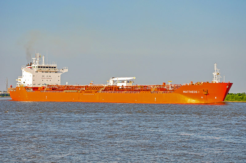 Mattheos I ship on Mississippi River, New Orleans