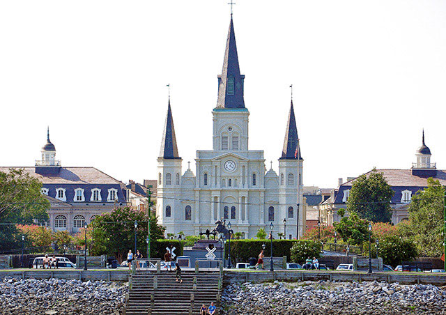 St Louis Cathedral from Mississippi