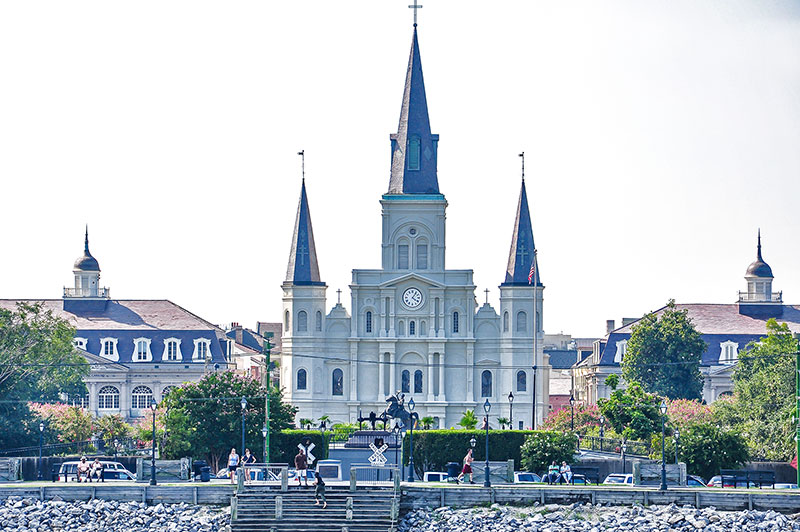 St Louis Cathedral from Mississippi, N.O., Louisiana
