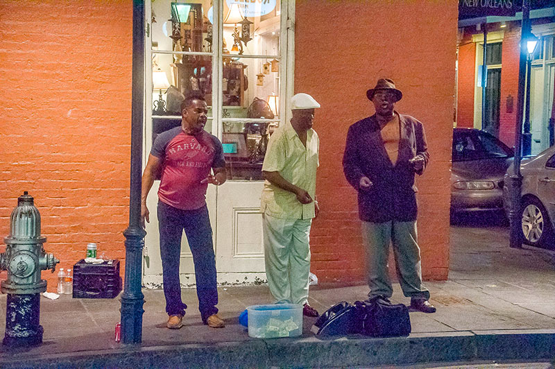 Doo-wop singers at the corner, New Orleans