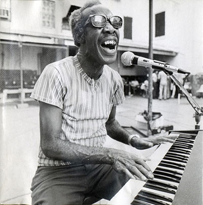 Henry Roeland Byrd (Professor Longhair) at the piano in New Orleans