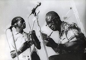Arthur Kelley and Silas Hogan at the New Orleans Jazz & Blues Festival 1972