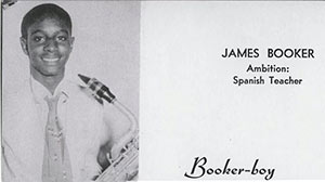 Calling card of a young James Booker