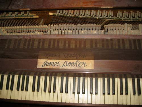 James Booker's piano