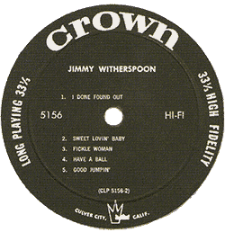 Jimmy Witherspoon's Crown LP