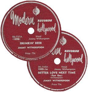 Jimmy Witherspoon's 78 rpm records