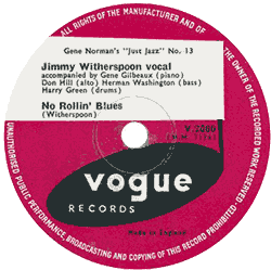 Jimmy Witherspoon, No Rollin' Blues