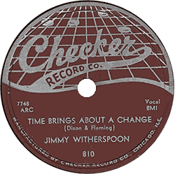 "78 rpm record ""Time Brings about a Change"""