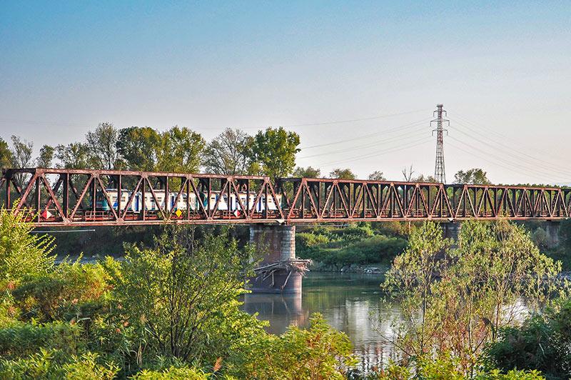 Ponte ferroviario sul Po, Casalmaggiore (CR)