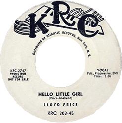 Lloyd Price, Hello Little Girl