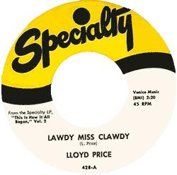 Lloyd Price, Lawdy Miss Clawdy