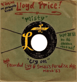 "Lloyd Price, ""Misty"" record envelope"