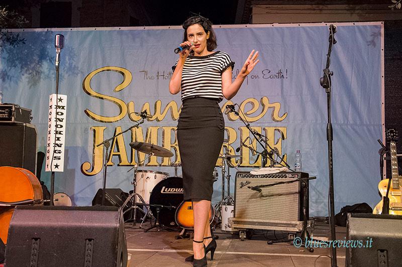 Grace Hall, emcee, Summer Jamboree
