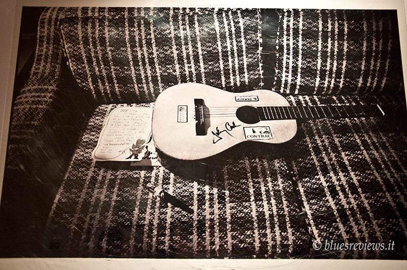 Johnny Cash guitar, photo of Jim Marshall