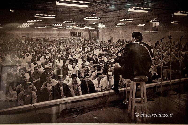 Johnny Cash at Folsom Prison, 1968, photo of Jim Marshall