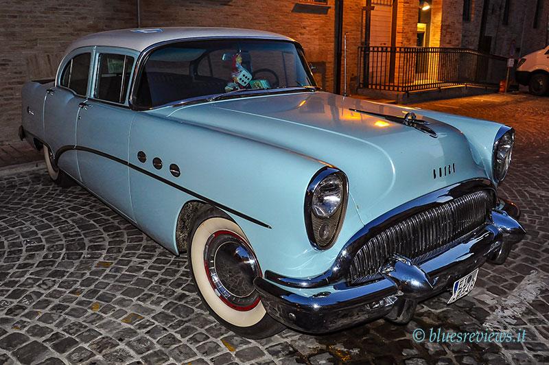 Vintage Buick light blue car