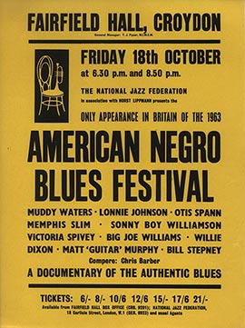 American Negro Blues Festival poster