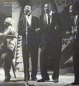 Muddy Waters, Sonny Boy Williamson, Lonnie Johnson at the A.F.B.F.