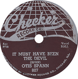 "78 rpm record ""It Must Have Been the Devil"""