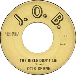 "78 rpm record ""The Bible Don't Lie"""