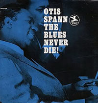"CD cover of ""The Blues Never Die"" (Prestige Records)"