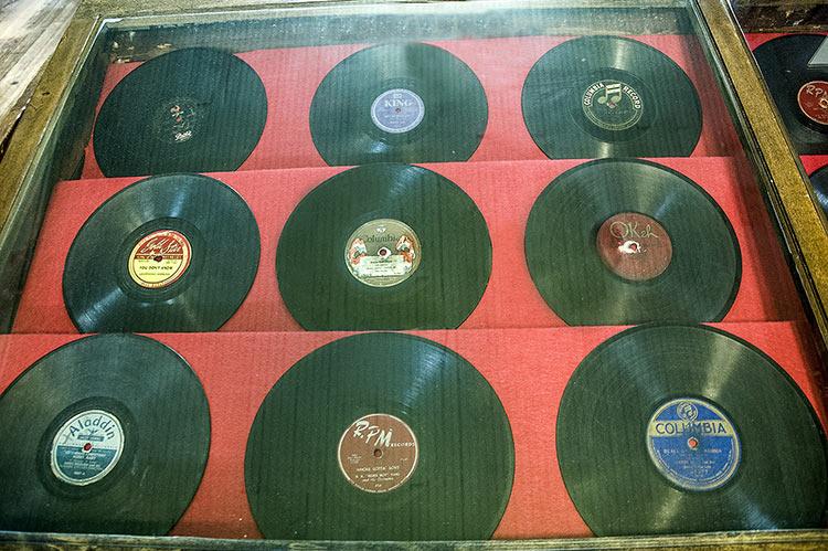 A. Schwab shop, old records exhibition