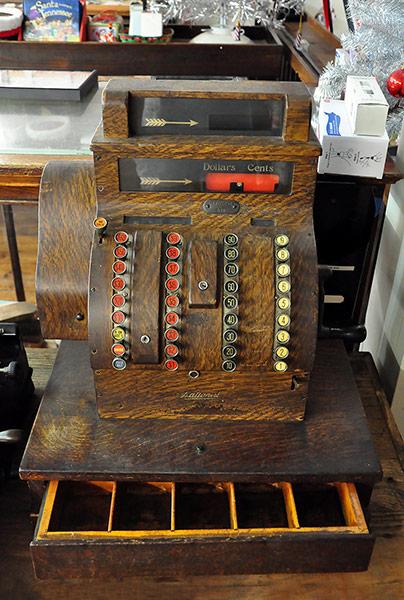 A. Schwab shop, old counter