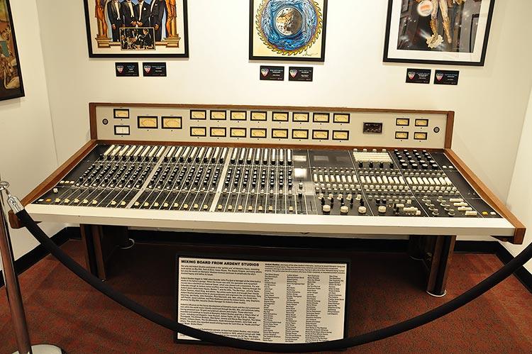 Ardent Studio's mixing board