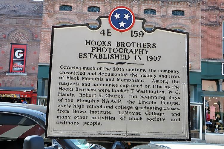 Hooks Brothers marker, Beale Street