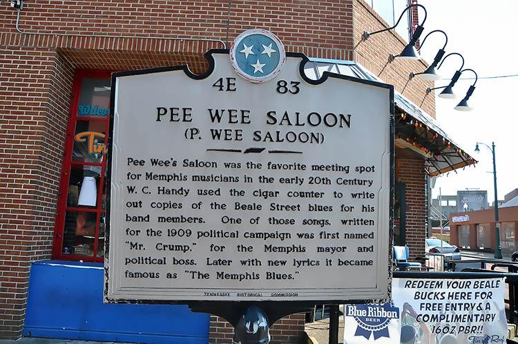 Pee Wee Saloon marker