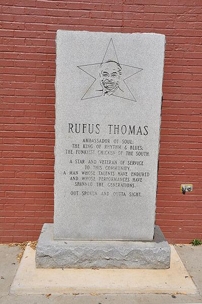 Rufus Thomas Monument, Memphis, Tn