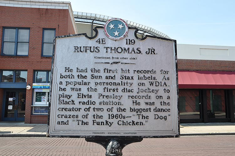 Rufus Thomas marker on Beale Street
