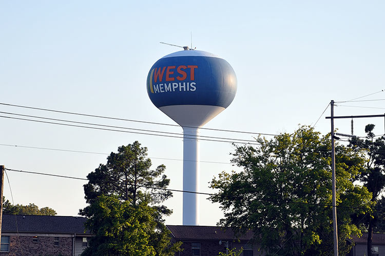 West Memphis water tower