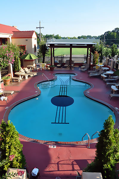 Swimming pool at Days Inn, near Graceland, Memphis, Tn