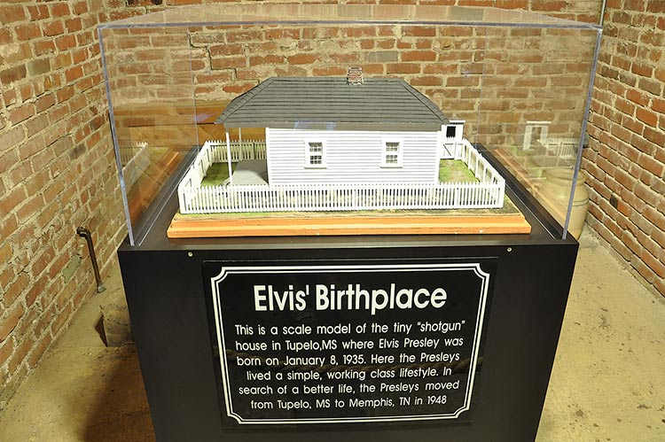 "Scale model ""Elvis' Birthplace"" at Graceland mansion in Memphis, Tn"
