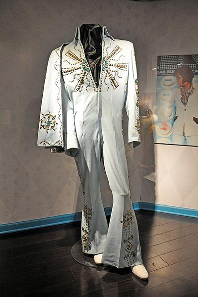 Elvis Presley's jumpsuit, Racquetball Building, Graceland, Memphis, Tn