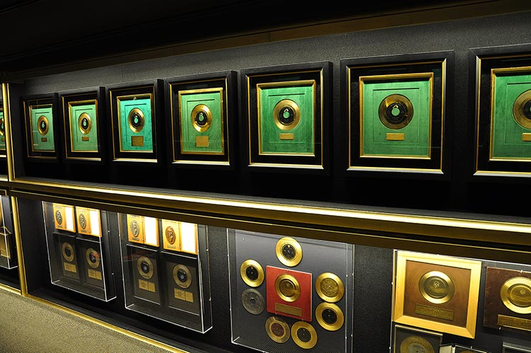 Trophy Room at Elvis Presley's Graceland mansion in Memphis, Tn