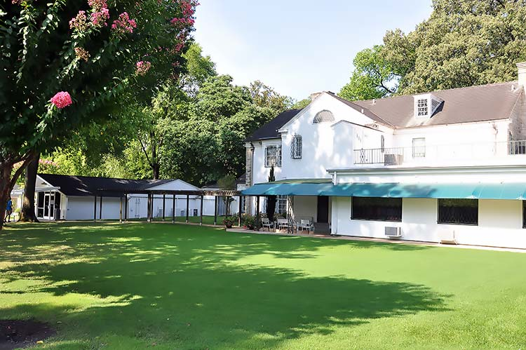 Backyard of Elvis Presley's Graceland mansion in Memphis