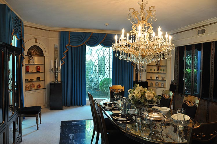 Dining room at Elvis Presley's Graceland mansion in Memphis