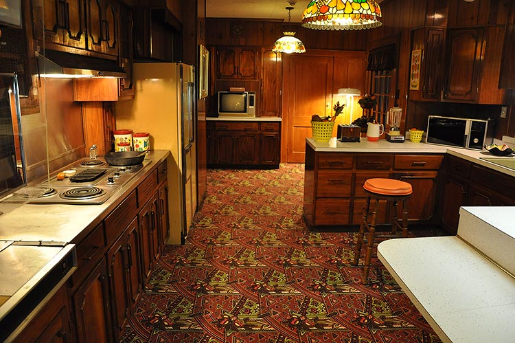 Kitchen at Elvis Presley's Graceland mansion in Memphis