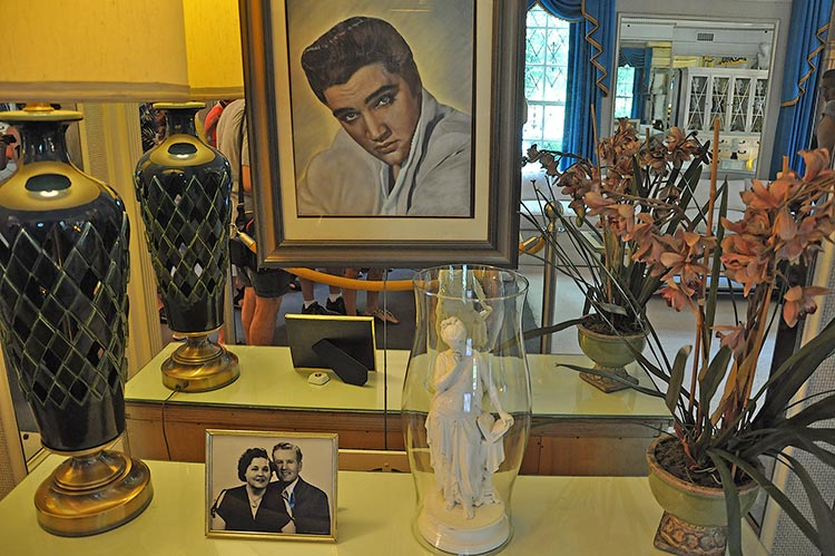 Living room at Elvis Presley's Graceland mansion in Memphis
