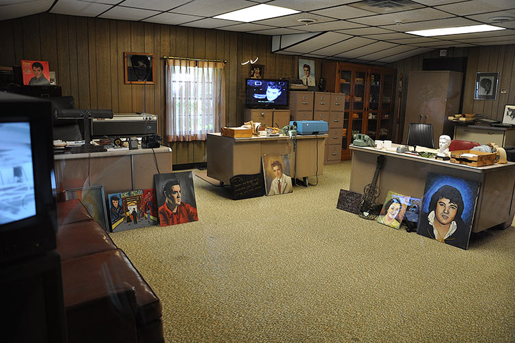 Office at Elvis Presley's Graceland mansion in Memphis, Tn