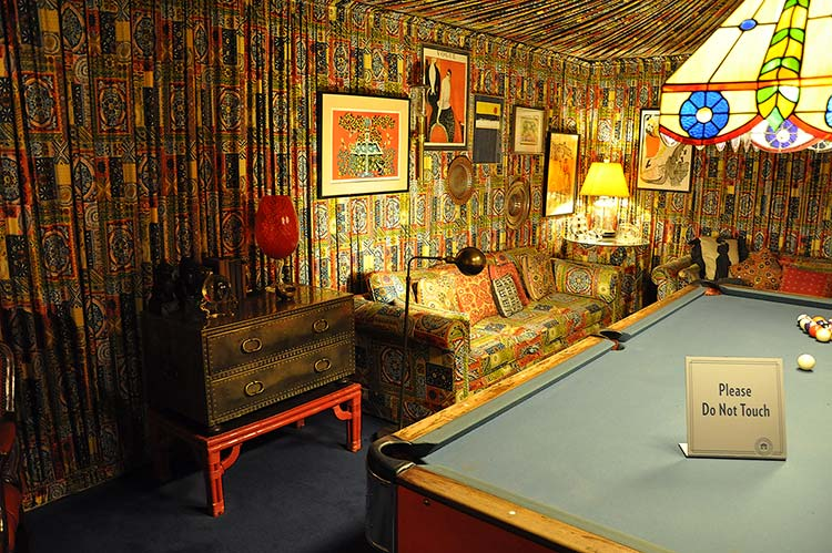 Pool room at Elvis Presley's Graceland mansion in Memphis, Tn