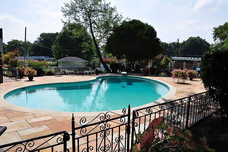 Swimming pool at Elvis Presley's Graceland mansion, Memphis, Tn