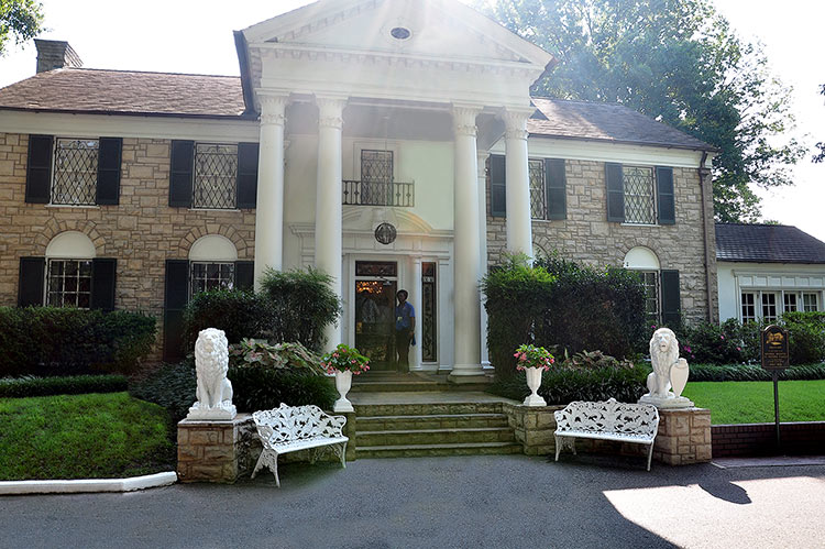 Elvis Presley's Graceland mansion in Memphis, Tn