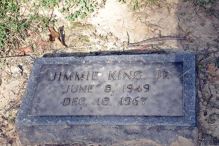 Jimmie King Jr grave